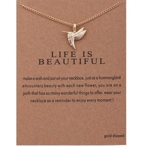 Jewelry - 3 for $18 ❤️Life is Beautiful Gold Necklace